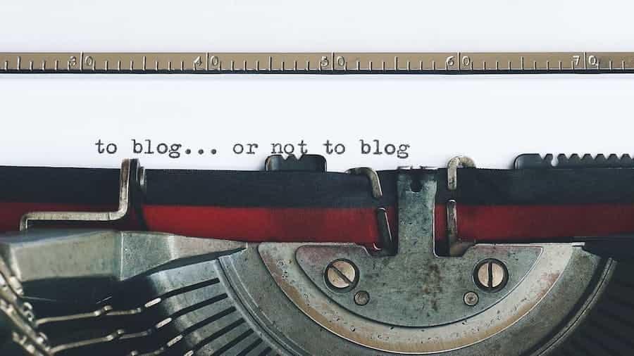 Blogtexte schreiben mit der Schreibmaschine
